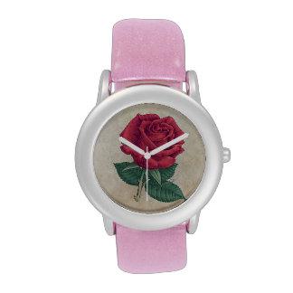 Ilustraciones del rosa rojo relojes de mano