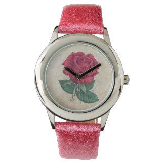 Ilustraciones del rosa rojo relojes de pulsera
