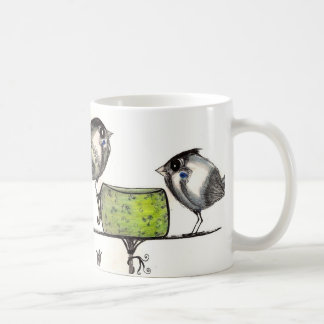Ilustraciones del Teatime del gorrión con el poema Tazas