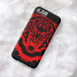 Ilustraciones del tigre de los Arty del gruñido en Funda De iPhone 6 Barely There