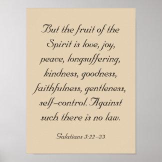 Ilustraciones del verso de la biblia, fruta del al póster