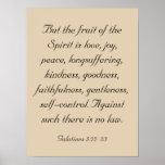 Ilustraciones del verso de la biblia, fruta del póster