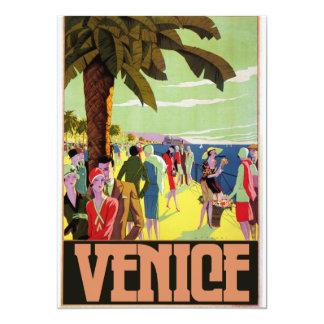 """Ilustraciones del viaje de Venecia Invitación 5"""" X 7"""""""
