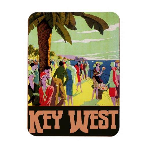 Ilustraciones del vintage del viaje de Key West la Iman De Vinilo