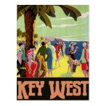 Ilustraciones del vintage del viaje de Key West la Tarjeta Postal