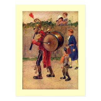 Ilustraciones del vintage que ofrecen una postal