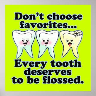 Ilustraciones dentales divertidas del personalizad poster