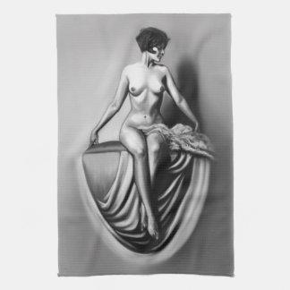 ilustraciones desnudas femeninas de la señora que toalla