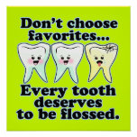 Ilustraciones divertidas de la oficina del dentist posters