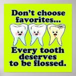 Ilustraciones divertidas de la oficina del dentist póster