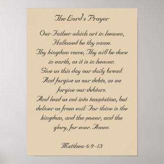 Ilustraciones enmarcadas del verso de la biblia, P Poster