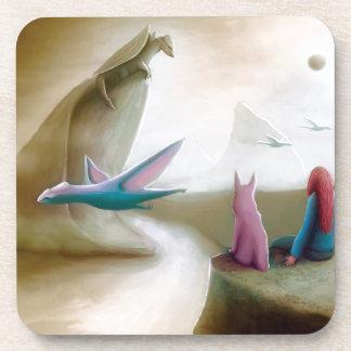 Ilustraciones épicas de observación de la fantasía posavaso