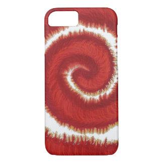 ilustraciones espirales rojas #1 de 1st-Root Funda iPhone 7