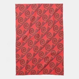 ilustraciones espirales rojas #1 de 1st-Root Toalla De Cocina