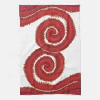 ilustraciones espirales rojas #1 de 1st-Root Toallas De Mano