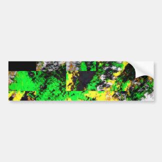 Ilustraciones finas abstractas amarillas verdes im pegatina para auto