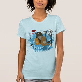 Ilustraciones frescas de los pájaros camisetas