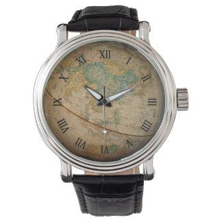 Ilustraciones geográficas clásicas del globo reloj