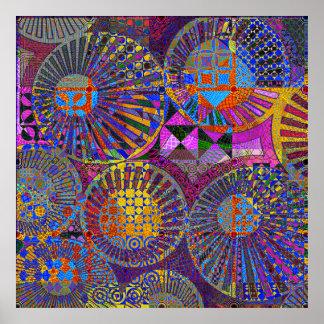 ilustraciones geométricas abstractas impresiones