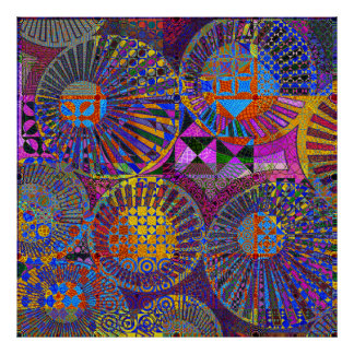 ilustraciones geométricas abstractas póster