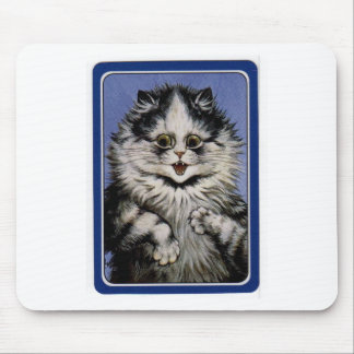 Ilustraciones grises del gato de Louis Wain Tapetes De Ratones