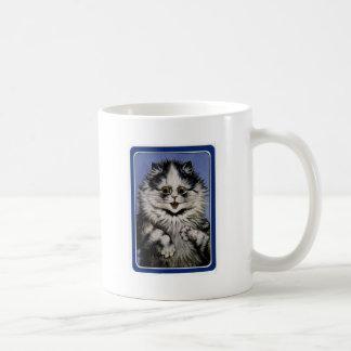 Ilustraciones grises del gato de Louis Wain Taza De Café