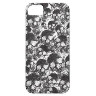 Ilustraciones incompletas de los cráneos iPhone 5 carcasas