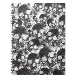 Ilustraciones incompletas de los cráneos libro de apuntes