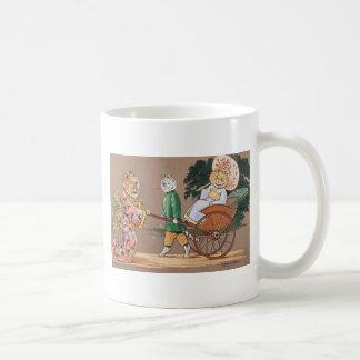 Ilustraciones japonesas de los gatos de Louis Wain Taza De Café