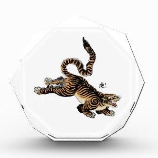 Ilustraciones japonesas del vintage del tigre con