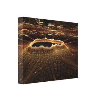 Ilustraciones lunares del fractal del paisaje lona envuelta para galerías