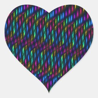 Ilustraciones magentas azules del extracto del pegatina en forma de corazón