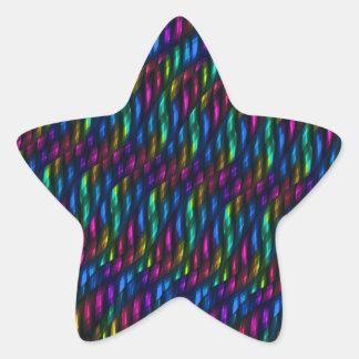 Ilustraciones magentas azules del extracto del pegatina en forma de estrella