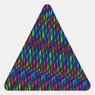 Ilustraciones magentas azules del extracto del pegatina triangular