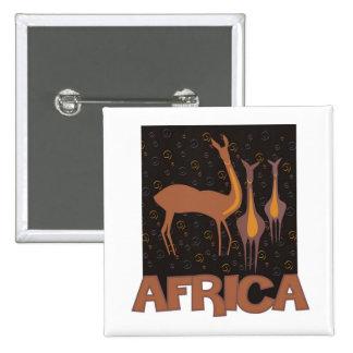 Ilustraciones marrones africanas tradicionales del pin cuadrado