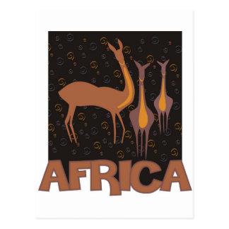 Ilustraciones marrones africanas tradicionales del postal
