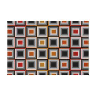 Ilustraciones minimalistas grises anaranjadas de impresión en lona estirada