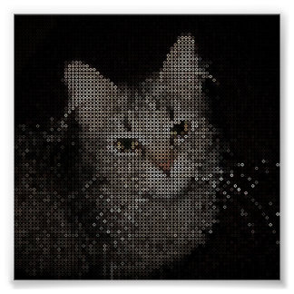 Ilustraciones moldeadas del gato posters