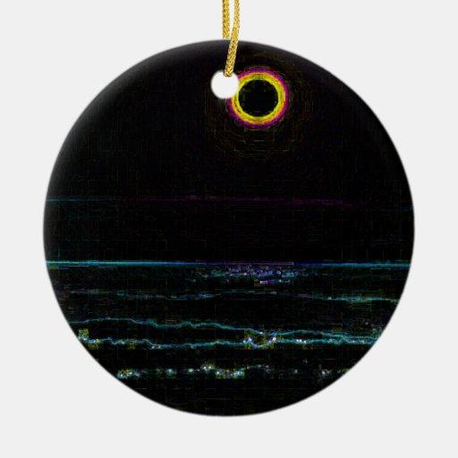 Ilustraciones negras de la puesta del sol ornamentos de reyes