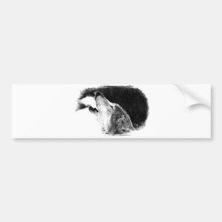 Ilustraciones negras y blancas del bosquejo del pegatina para auto