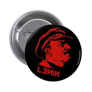 Ilustraciones negras y rojas del comunista de Leni Pin Redondo De 2 Pulgadas