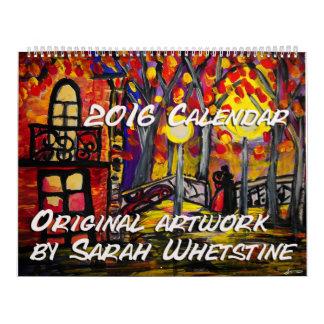 Ilustraciones originales de 2016 calendarios por