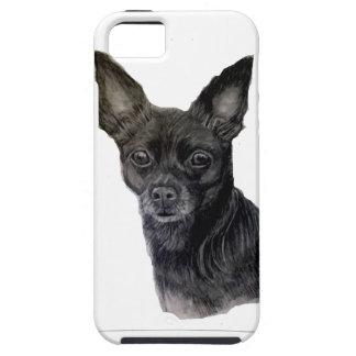 Ilustraciones originales de la chihuahua negra por iPhone 5 fundas