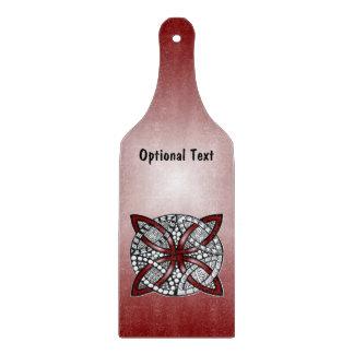 Ilustraciones originales del nudo céltico rojo tablas para cortar