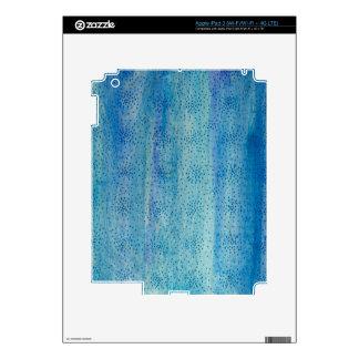 Ilustraciones originales - el azul asperja iPad 3 pegatinas skins
