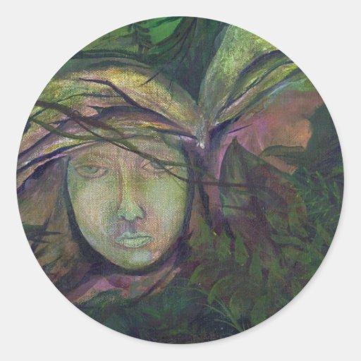 Ilustraciones originales olvidadas de la pintura pegatina redonda