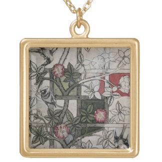 Ilustraciones originales para el diseño del papel  collar dorado
