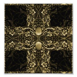 Ilustraciones ornamentales de lujo impresion fotografica