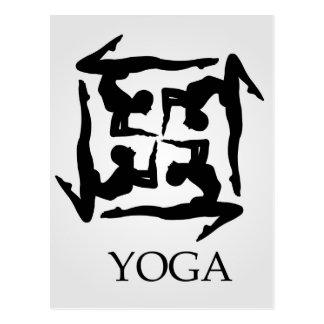 ilustraciones para la yoga tarjeta postal