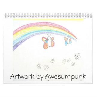 Ilustraciones por Awesumpunk Calendarios